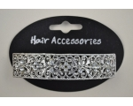 ** BACK IN STOCK **  Silver barrette with diamante detail
