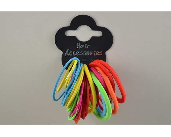 38 assorted elastics in various sizes.  3 colour ways as per images