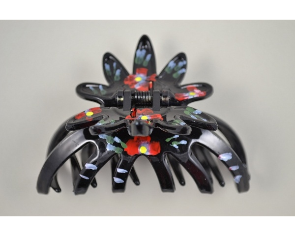 9cm painted flower clamp. Packed 6 torte & 6 black