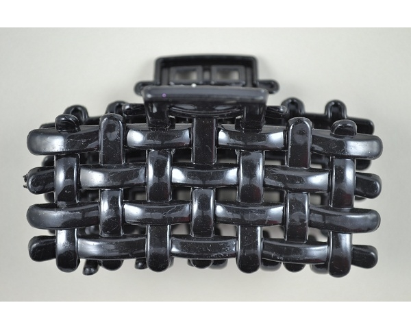 8cm weaved clamp in black