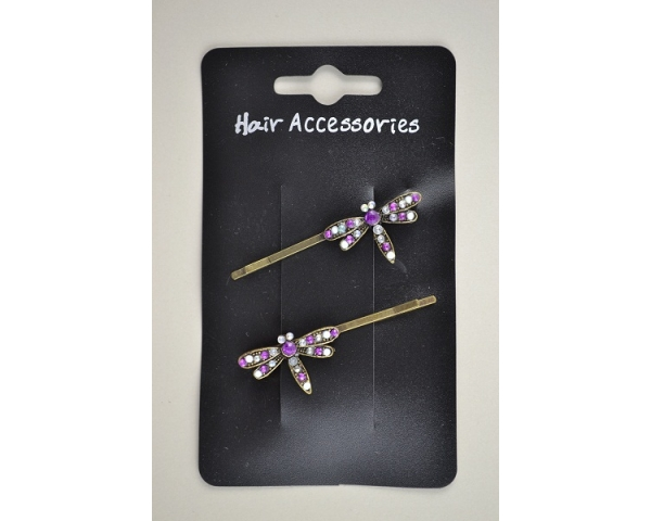 2 dragonfly grips. In pink & purple