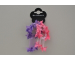 ** BACK IN STOCK** 2 scrunchies per card with flowers and bead detail. Colours as shown