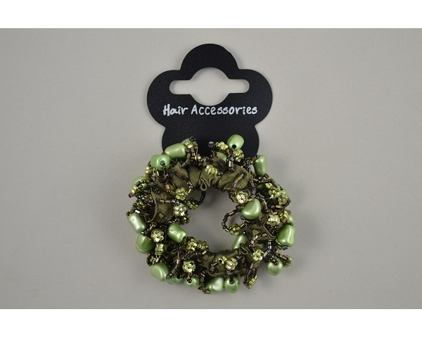 1 beaded scrunchie per card. In assorted colours & design as per images