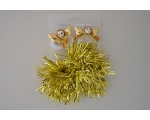 2 angel ponios with a tinsel scrunchie. In silver & gold. LOW STOCK