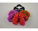 6 ponio scrunchies with tinsel detail. Colours as shown