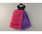 2 stretchy knitted bandeaux per card. Packed 6 hot pink & purple & 6 bright blue & black