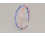 2 per card translucent flower detail narrow alice band. In pink & purple