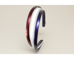 3 per card narrow alice band in red white & blue per card