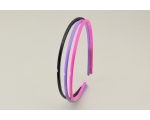 3 per card narrow alice band. In black, hot pink & purple & black, yellow & pink per card