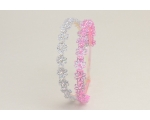 2 flower & glitter alice bands per card. Packed pink & lilac & pink & silver