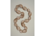Brown marble effect large bead necklace. Approx 30 inches