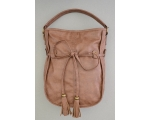 **WAS £10.50** Tan brown slouch bag. Additional longer strap included. Zip & accessory pockets. 30x40x10 cm (LxHxW)