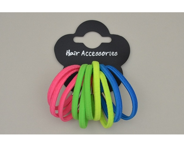 Bunch of 10 neon elastics. Colours as shown