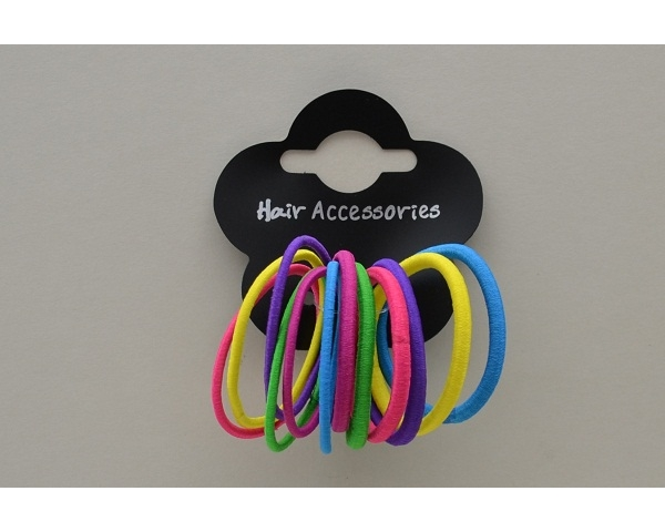 12 bright coloured endless elastics per card. Colours as shown