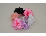 24 Pretty flower on an elastic. Assorted colours as per image. Uncarded