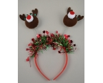 Christmas character deeley boppers with tinsel detail. 3 designs, 4 x each per pack