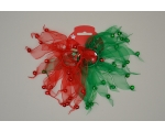 Christmas Elastic with jingling bells. 2 per card in green & red and red & white.