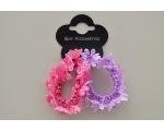 2  pretty beaded flower scrunchies per card. X4 of each colour combination per pack
