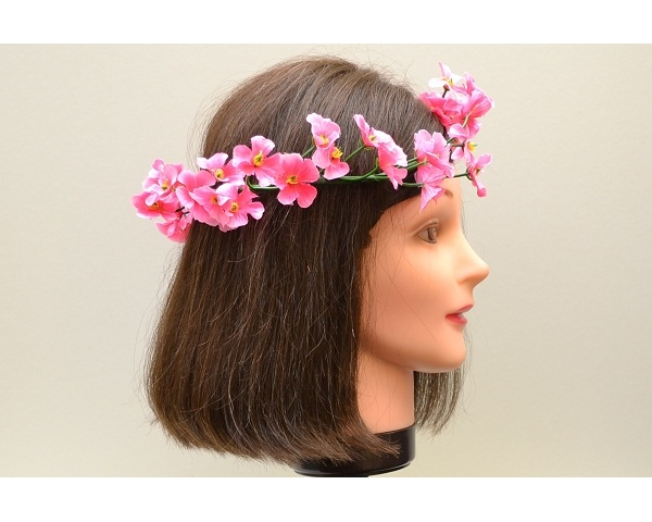 Fuchsia flower head garland / brow band
