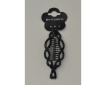 14cm approx wavy fish shaped clip decorated with black studs