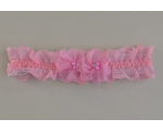 Girls lacy netted elasticated kylie with net and bead design in pink. Length approx 20cm. Width approx 5cm