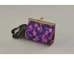Floral design clasp coin purse. 2 colours per pack, as per images