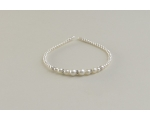 Cream pearl bead alice band with larger bead and diamante design