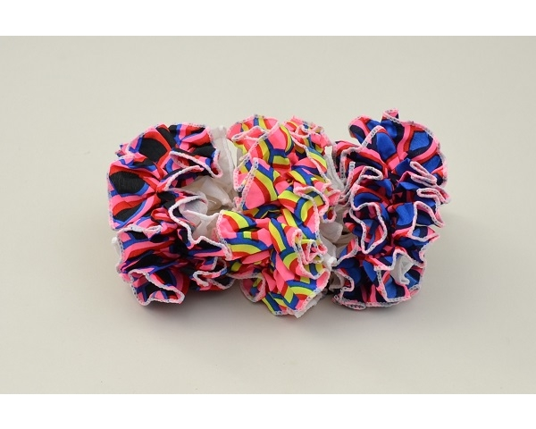 1x large ruffle scrunchie per card. Colours as shown